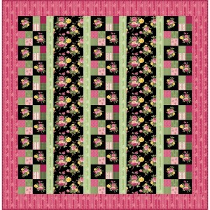 Cottage Rose Quilt in Easy Sew